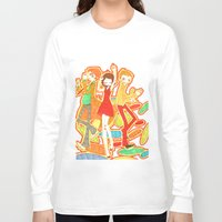 70s Long Sleeve T-shirts featuring 70s Disco Fever by Little Cello