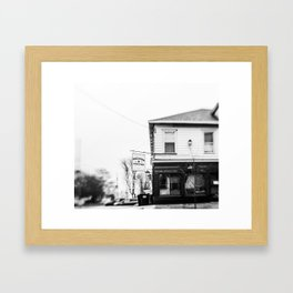 but first, coffee. Framed Art Print