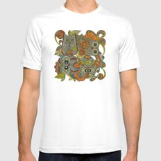 4 Owls White MEDIUM Mens Fitted Tee