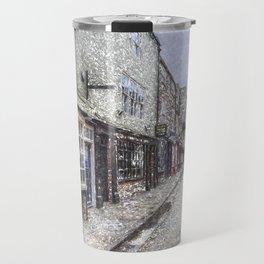 The Shambles York Snow Art Travel Mug