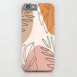 Abstract Nature Leaf Minimalist Print iPhone Case