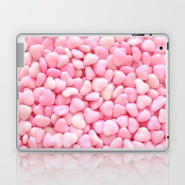 Pink Candy Hearts Laptop & iPad Skin