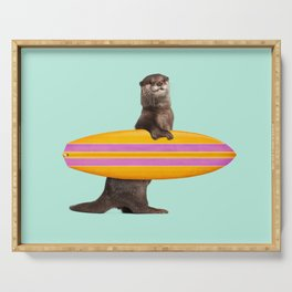 SURFING OTTER Serving Tray