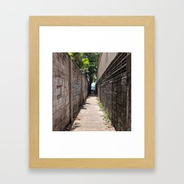 Alleyway to Kata Beach Thailand Framed Art Print