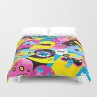 monsters Duvet Covers featuring Monsters by Lienke Raben