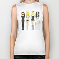 mean girls Biker Tanks featuring Mean Girls Halloween by CozyReverie