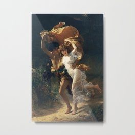 The Storm by Pierre-Auguste Cot 1880, French Metal Print