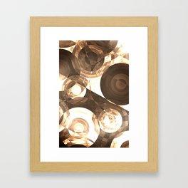 Sepia Circles Framed Art Print