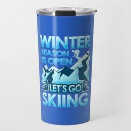Winterseason - Skiing Travel Mug