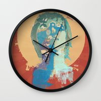 water color Wall Clocks featuring water color by THE83JUICE