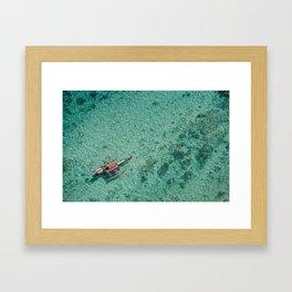 Outrigger in Hawaii Framed Art Print
