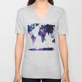 ALLOVER THE WORLD-Galaxy map Unisex V-Neck
