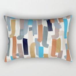 rust, teal, blush paint lines Rectangular Pillow