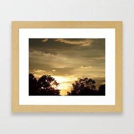 Golden Skies Framed Art Print