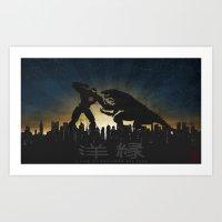 pacific rim Art Prints featuring Kaiju Warriors - Pacific Rim by MrMauro