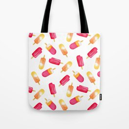 watercolor popsicle pattern Tote Bag