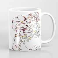 wizard Mugs featuring Wizard by Party Moth