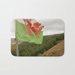 Top of the Hill Welsh Flag Bath Mat