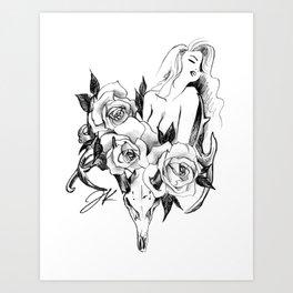 Antelope Roses Art Print