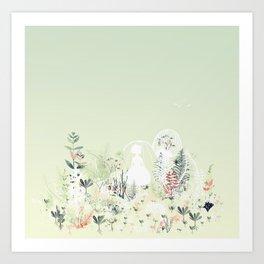 lady mistick Art Print