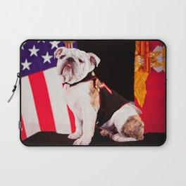 Bulldog Navy Official Mascot Dog Laptop Sleeve