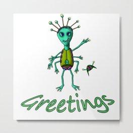 Greetings (color) Metal Print
