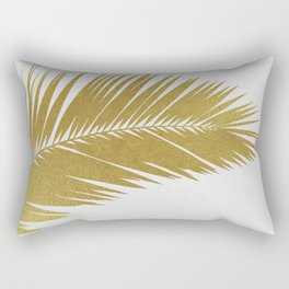 Palm Leaf Gold I Rectangular Pillow