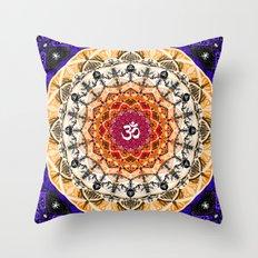 ORANGE OM MANDALA Throw Pillow