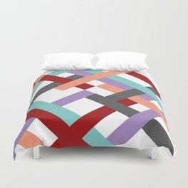 """Geometric Print """"Broken Weave"""" Duvet Cover"""