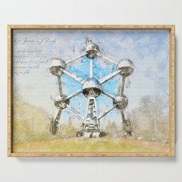 Atomium Brussels, Belgium Serving Tray