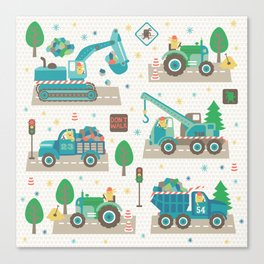 Truck monsters Canvas Print