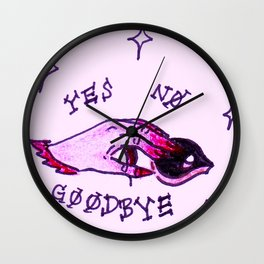 Witchy Ouija Hand - Yes, No, Good-Bye Wall Clock