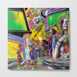 Cybercafé (Closeup) Metal Print