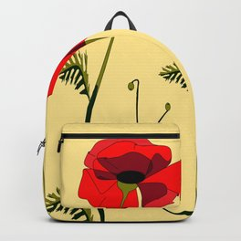 Adorable Red Poppies Unfold Backpack