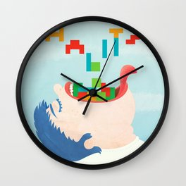 Organize Your Food Habits Wall Clock