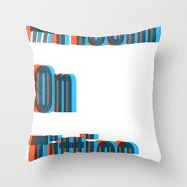 #PissinOnTitties Throw Pillow