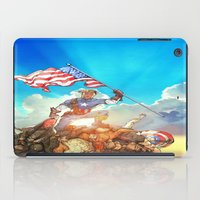avenger iPad Cases featuring Captain (Avenger) America by Brian Hollins art