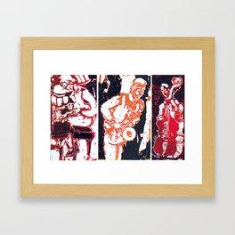 Jazzing it up          by Kay Lipton Framed Art Print