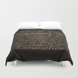 Civilisation: Ashes To Ashes Duvet Cover