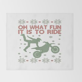 Dirtbike Christmas Throw Blanket