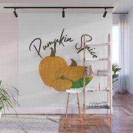 Pumpkin Spice Digital Watercolor Wall Mural