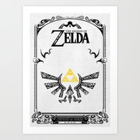 legend of zelda Art Prints featuring Zelda legend - Hyrulian Emblem by Art & Be