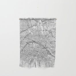 Paris Map Line Wall Hanging