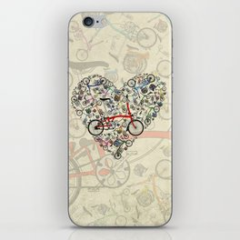 I Love Brompton Bikes iPhone Skin