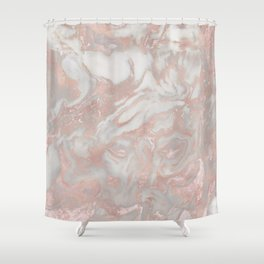 French polished rose gold marble Shower Curtain