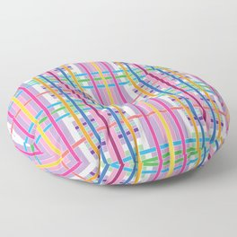 Candy Plaid Floor Pillow