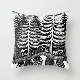 Tree Spirits Throw Pillow