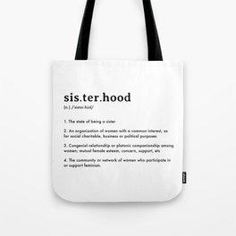 Sisterhood Definition Tote Bag