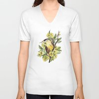 birdy V-neck T-shirts featuring Birdy by Rapapazzi