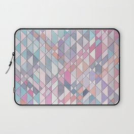 Triangle Pattern no.25 Light Pink Laptop Sleeve